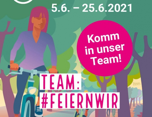 Stadtradeln: Radel mit im Team #feiernwir